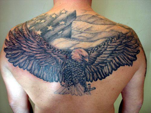 Eagle Tattoo Back Buscar Con Google Tattoos For Guys Back