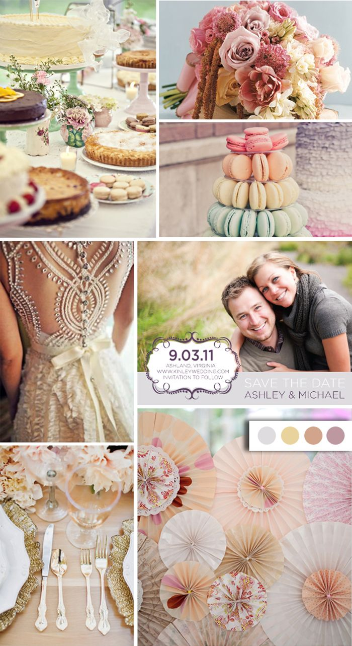 Romantic Style Wedding + Color Palette by Jam + Toast http://jamandtoasttn.com