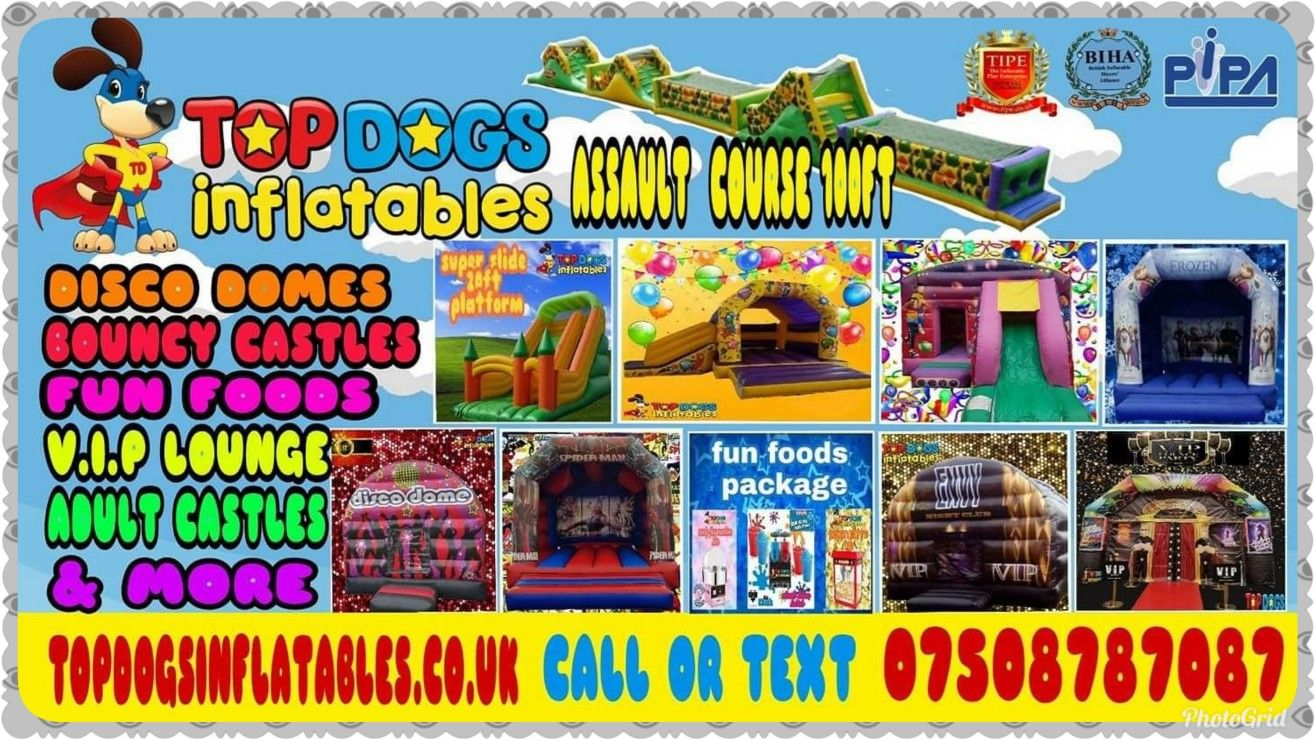Choose From A Great Variety Of Inflatables Bouncy Castles Disco