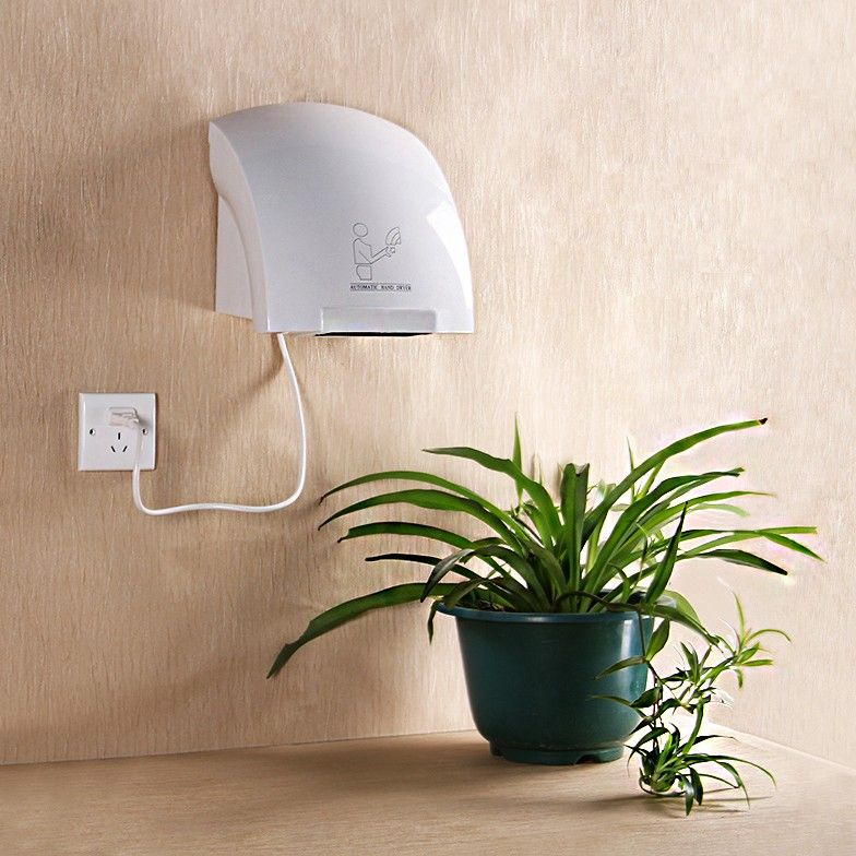 Hand Dryer Wall Mounted Fast Electric Automatic Warm Air Drier Heavy Duty Toilet