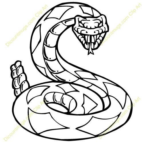 Clipart 13228 Rattlesnake