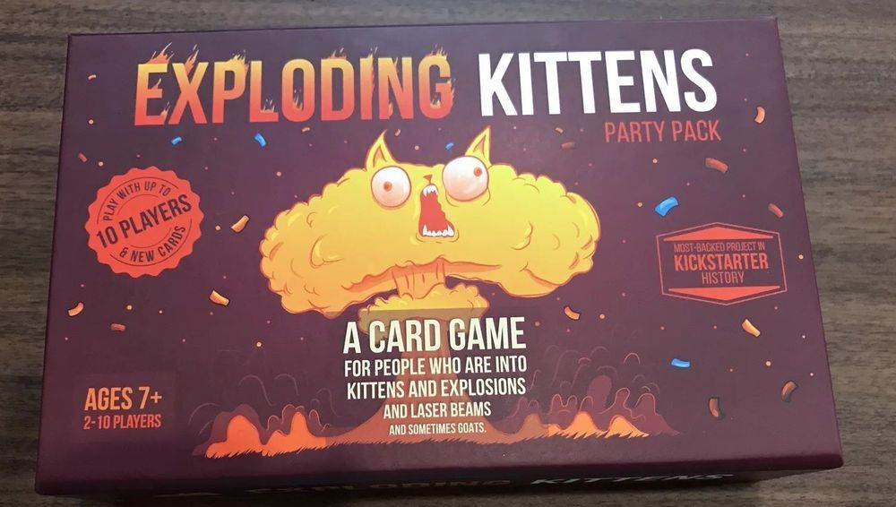 Exploding Kittens Party Pack 10 Player Card Game 2017