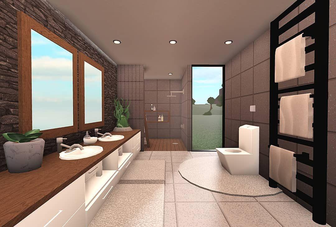 Roblox Bloxburg Builder On Instagram Modern Bathroom Tags Roblox Robloxbloxburg We Home Building Design House Layouts Unique House Design