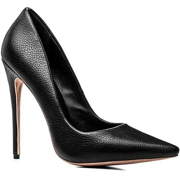Black 34 Women'S Heels Spring Summer Fall Office Stiletto Heel ($32) ❤  liked on