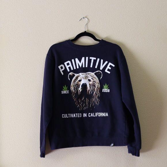 Zumiez Hoodie In great condition! Navy blue. Primitive Sweaters