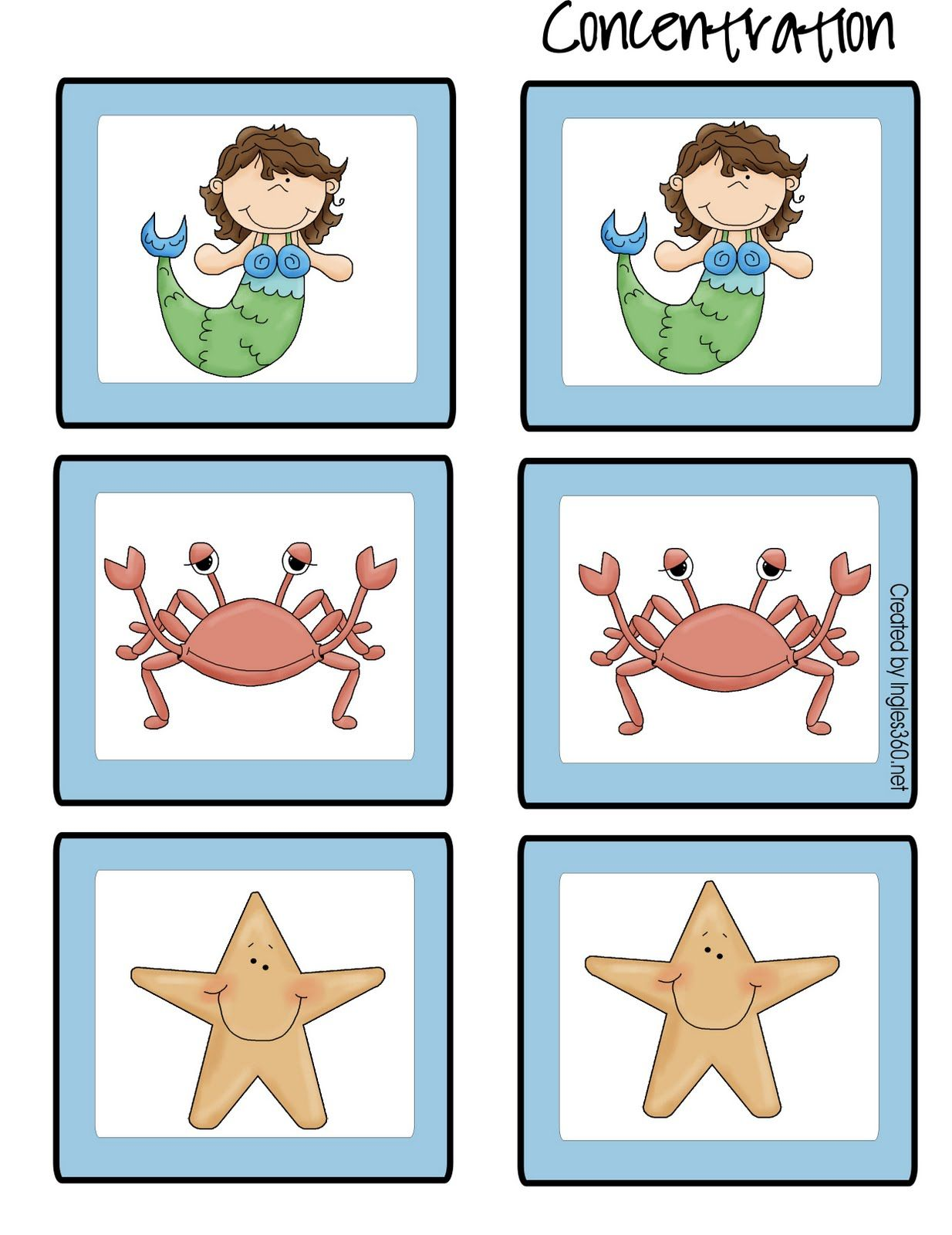 Ingles360 Friday Freebie! The little mermaid