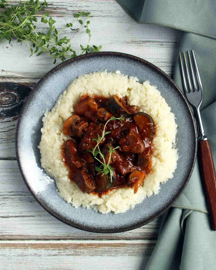 Photo of Keto Beef Stew Recipe with Cauliflower Mash