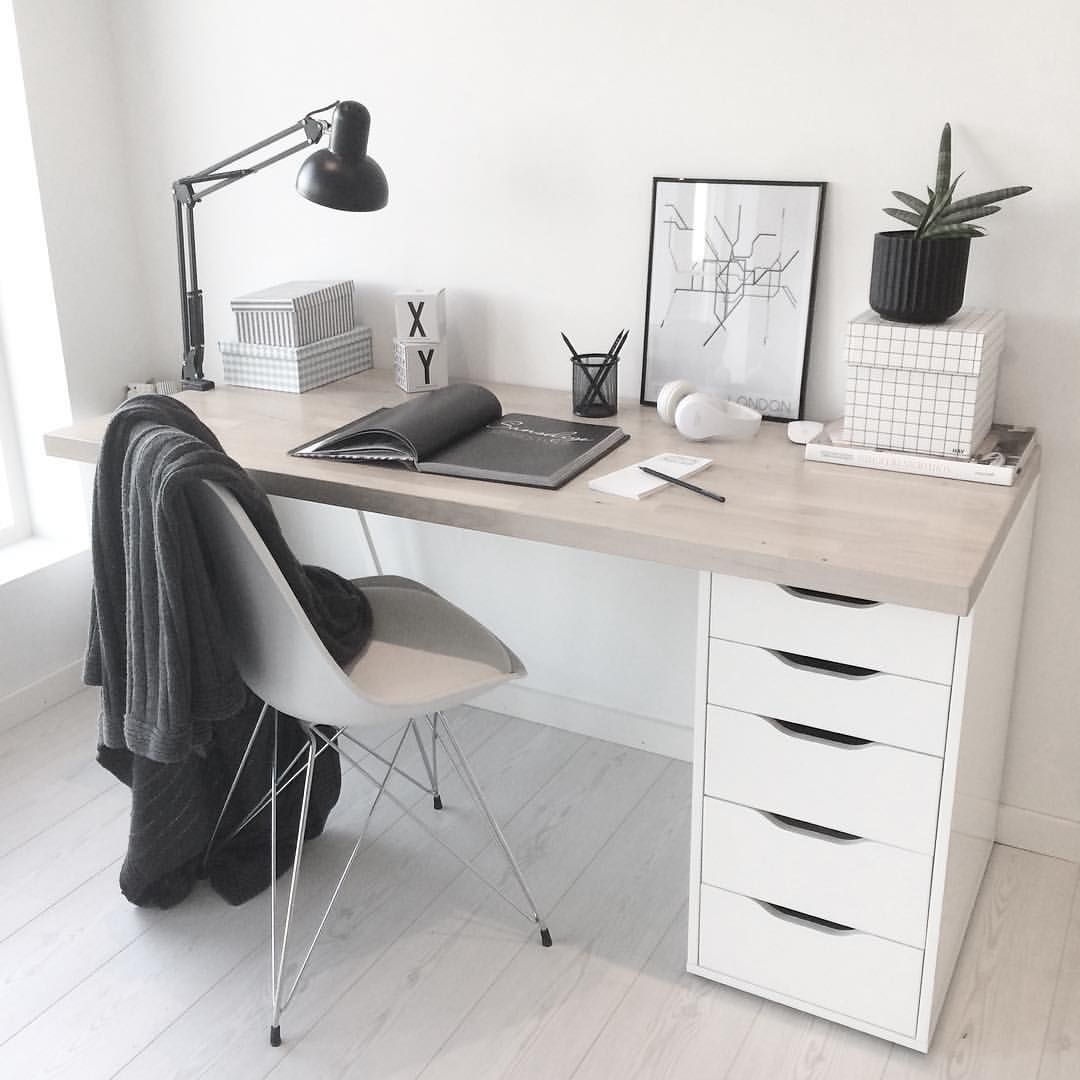 Sweet + Simple | Desk Office Home Inspiration, House, Living Space, Room,  Scandinavian, Nordic, Inviting, Style, Comfy, Minimalist, Minimalism,  Minimal, ...