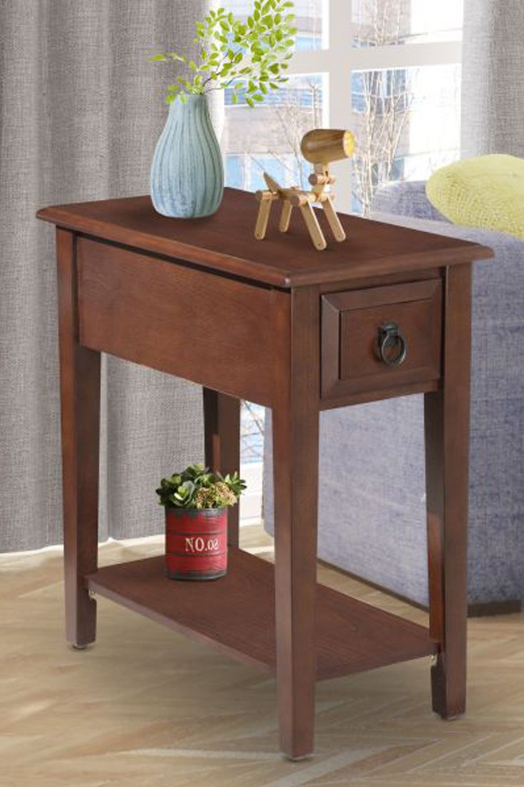 Farmhouse end table nightstand rustic side home office