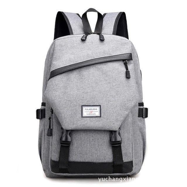 4bd490c891 Computer Laptop Usb Charging Backpack School Bag Pack Adult Student Bag  Business Backpack Male Unisex Waterproof Travel Backpack