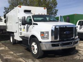 Ford F 750 Regular Cab Arbortech 14 Chipper Box Truck At Work Truck Direct Work Truck Ford Transit Regular Cab