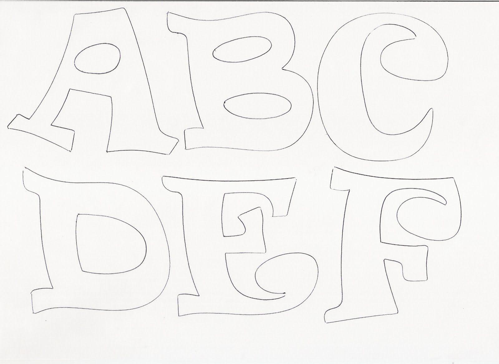 Moldes para hacer letras en goma eva - Imagui | letras ...