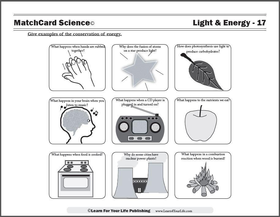 Conservation Of Energy Energy Worksheet Free Printable Worksheets Energy Transformations Energy worksheets for 3rd grade