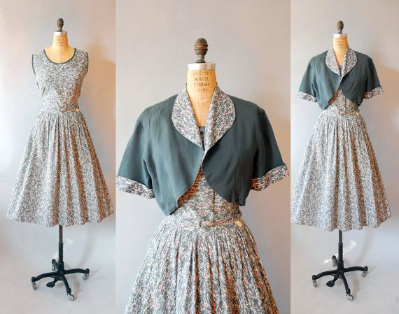 1950s Dress and Bolero / Formica Dress / by wildfellhallvintage