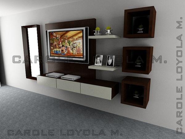 salas casas pequeñas - Pesquisa Google mueble para televisor