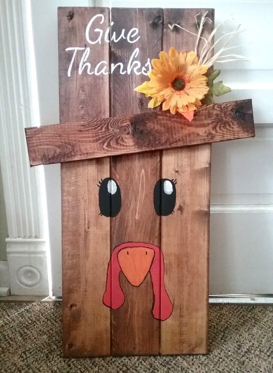 Wooden turkey thanksgiving decor diy Thanksgiving