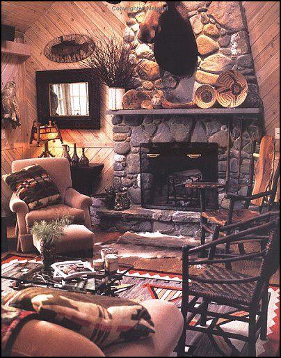Rustic Cabin Furnishings Log Decorating Ideas Northwoods