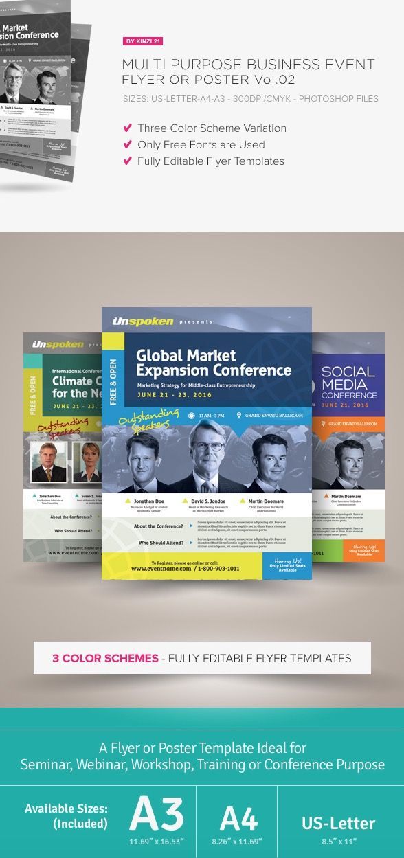 multi purpose business event flyer flyer pinterest business