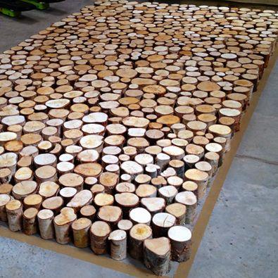 Decorative Birch Logs Log Style Bar Front Cabinet