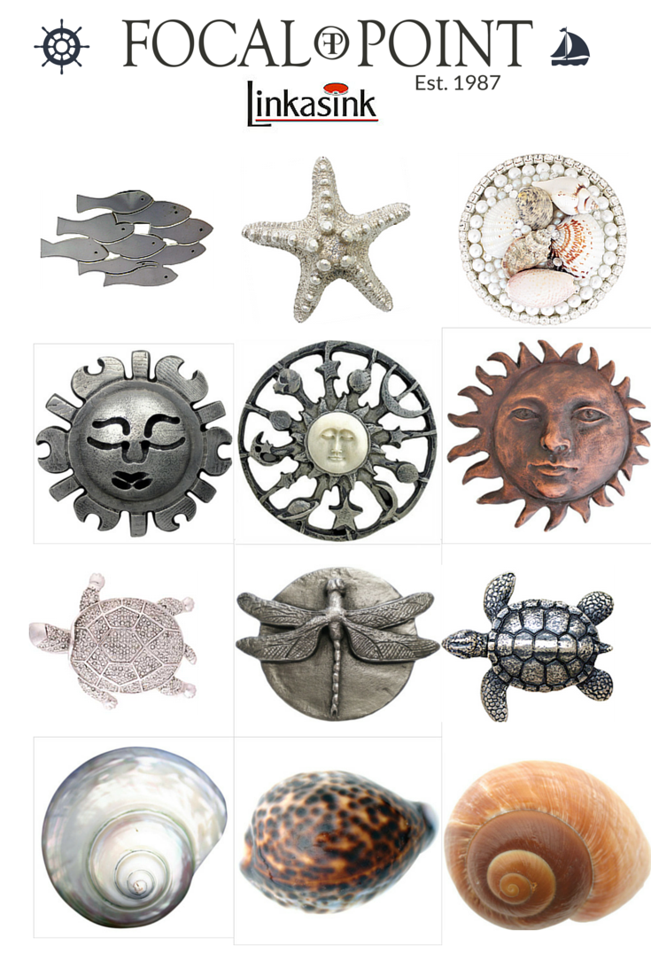 Delicieux Summer And Beach Inspired Decorative Sink Drains By Linkasink:  Http://focalpointhardware.