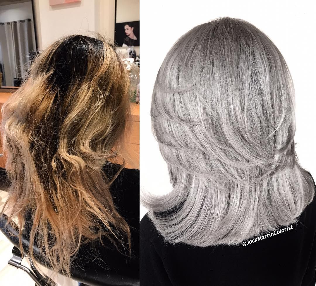 This Took 8 Hours Used Guy Tang Mydentity Big 9 Cream Lightner With 30 Volume And Olaplex On Roots And On The Oran Grey Hair Color Hair Rinse Long Hair Styles