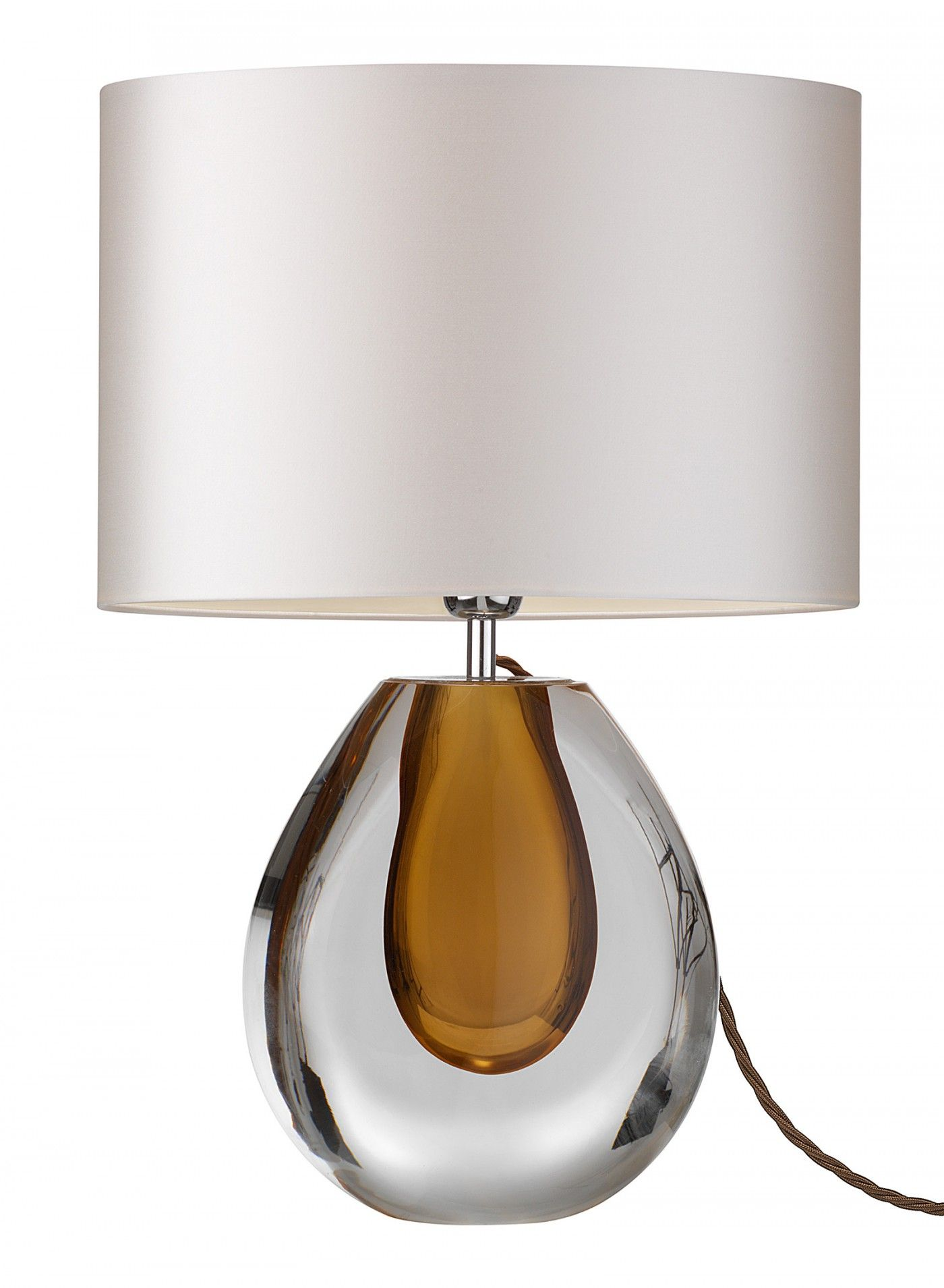 Table Lamps, Designer Amber Brown Perfume Bottle Art Glass Lamp, So  Elegant, Oneu2026