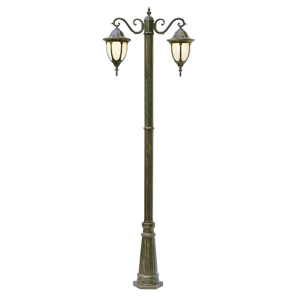 Bel Air Lighting Cabernet Collection 2 Light 93 In Outdoor Trans Globe Lighting Lamp Post Lantern Lamp
