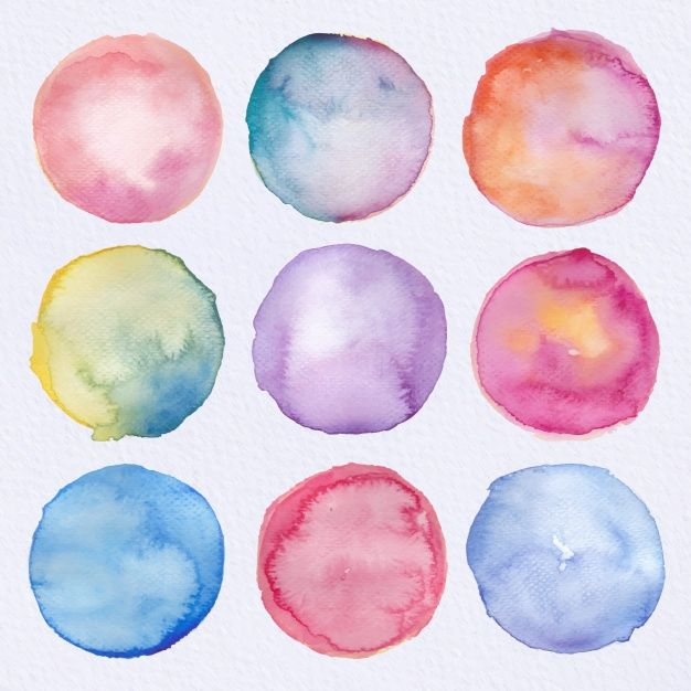 Download Watercolor Circles Collection For Free In 2020
