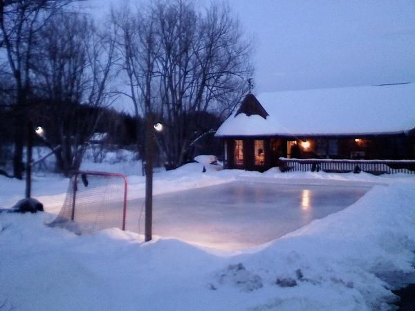 Homemade Ice Rink in backyard!!! Maybe not so close to the ...