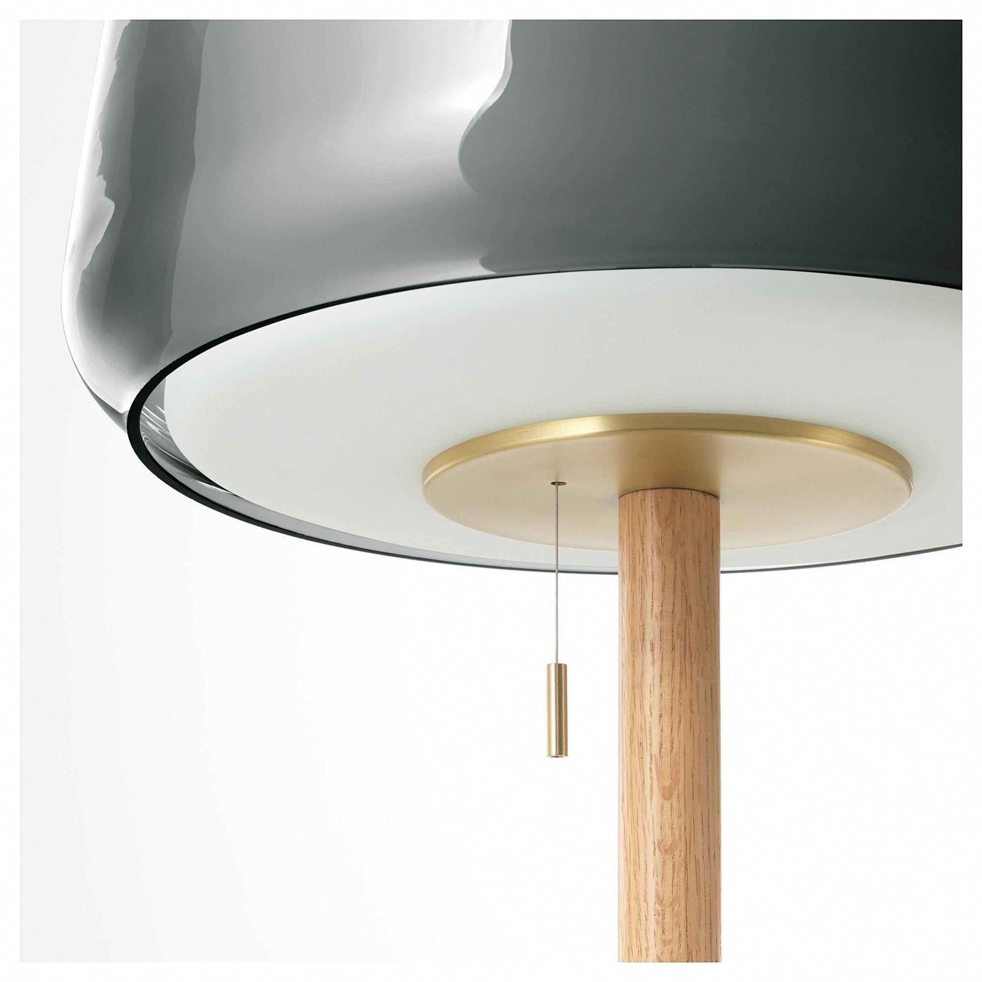 IKEA EVEDAL Floor lamp marble gray, gray HangingLamps