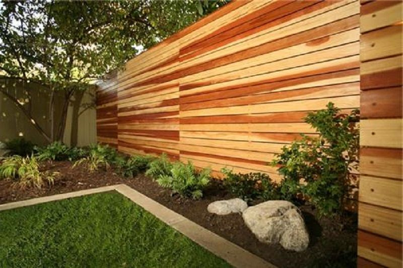 horizontal privacy fence images