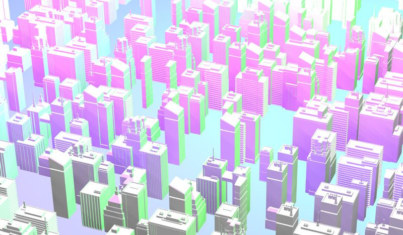 Buildings Wave Animation with Three js | 3d building