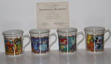 Lenox Disney Animated ClassicsFine Porcelain Mug Collection Set of 4 NIB, w/COA