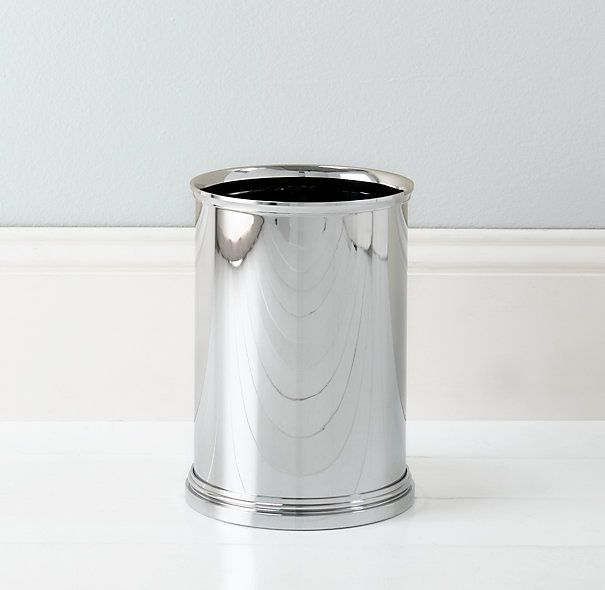 Exceptional RHu0027s Newbury Wastebasket:The Materials In Our Newbury Bath Accessories Are  Impervious To Water, Resistant To Rust And Quick To Clean.