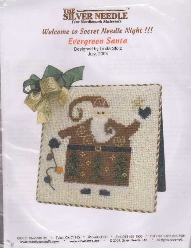 The Silver Needle Evergreen Santa By Linda Stolz Counted Cross