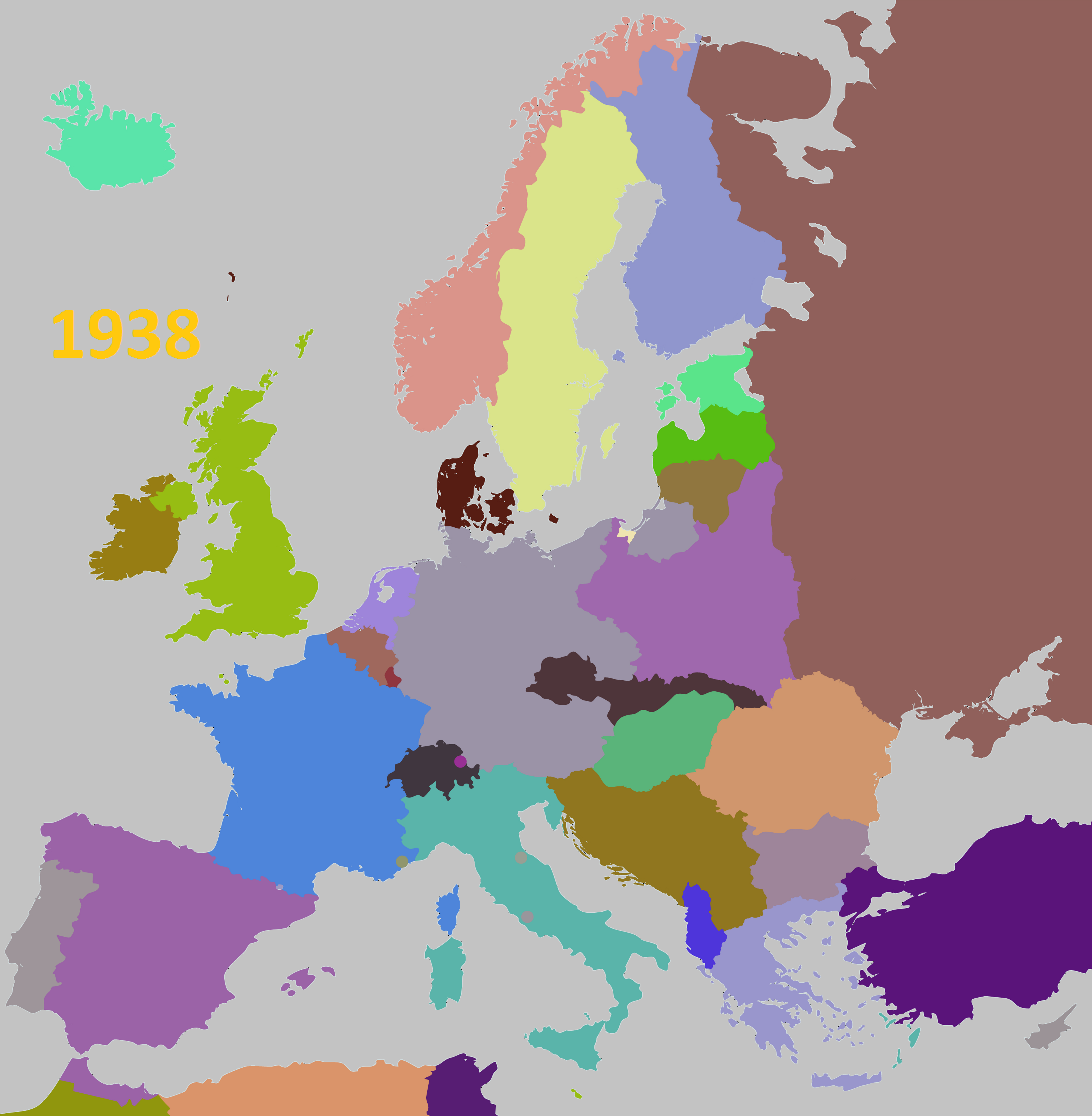 Map Of Eastern Europe In 1938 Imgurl