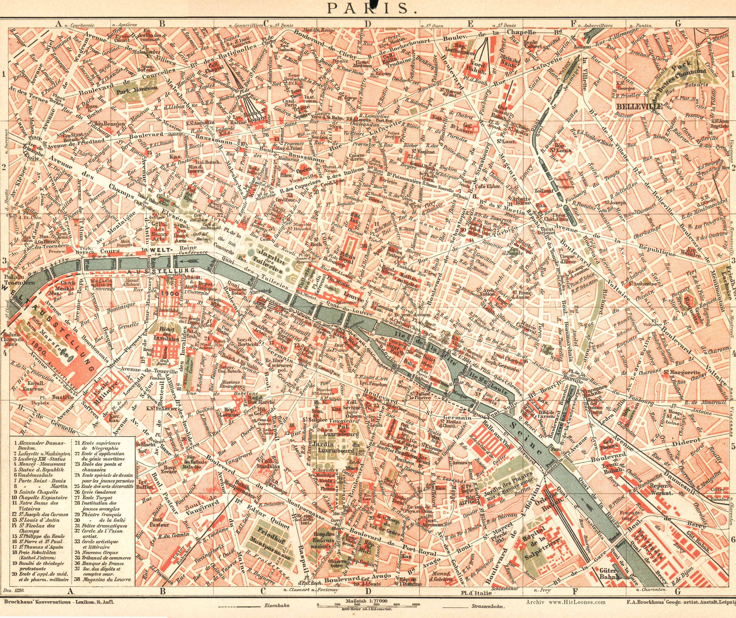 Paris Street Map 1880 1898 Vintage Paris Map Paris Map Paris Street Map