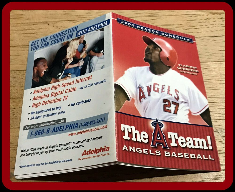 2004 CALIFORNIA ANGELS ADELPHIA BASEBALL POCKET SCHEDULE