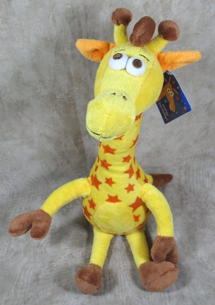 Toys R Us 16 Plush Happy Birthday Geoffrey Giraffe Stuffed Toy Nwt
