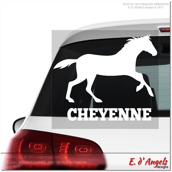 Horse decal monogram car decal decals monogram decal car