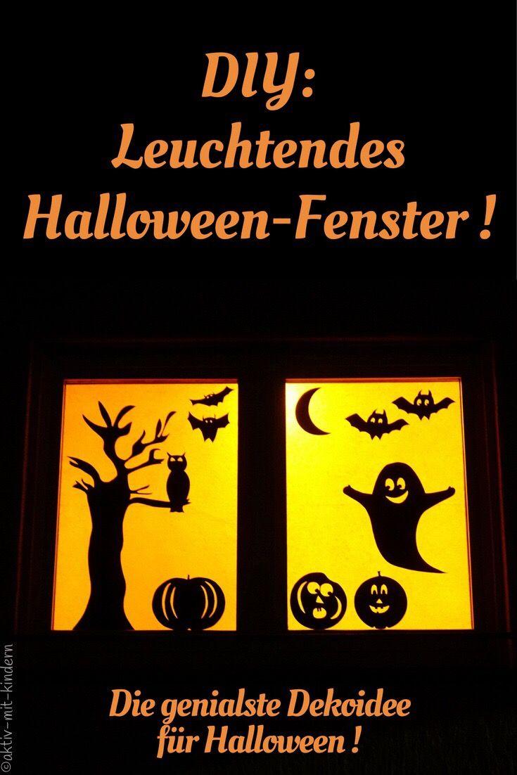Lasset uns gruseln unser halloween fenster halloween for Herbstdeko fensterbilder