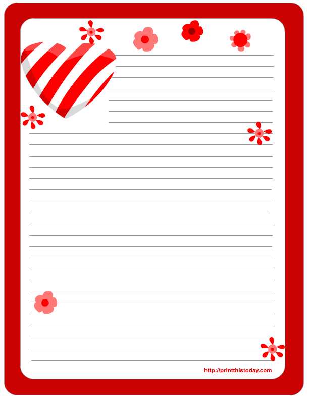 image regarding Free Printable Stationery Templates for Word titled stationery clip artwork Absolutely free Printable Valentine Stationery