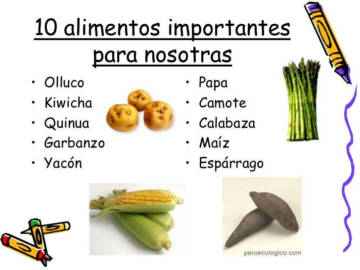 Resultado De Imagen Para Alimentos Nativos Del Peru Para Ninos