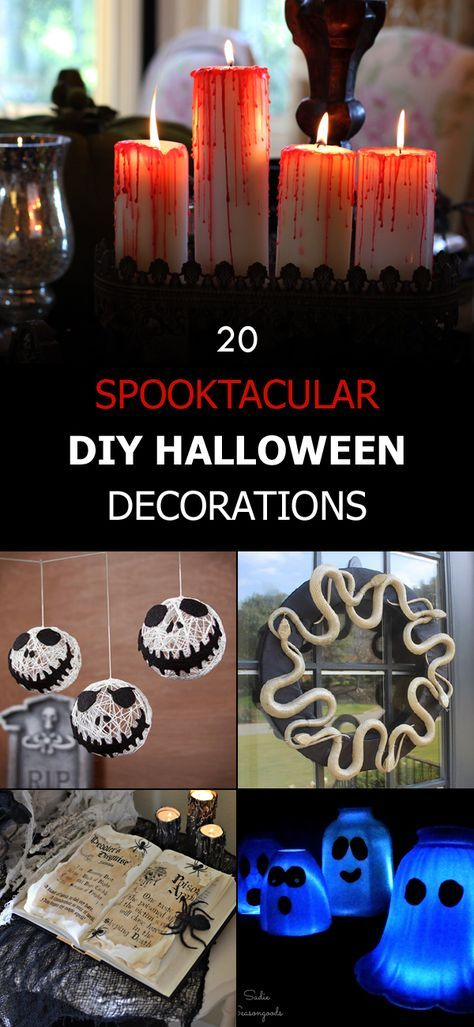 20 Spooktacular DIY Halloween Decorations DIY Halloween and Decoration