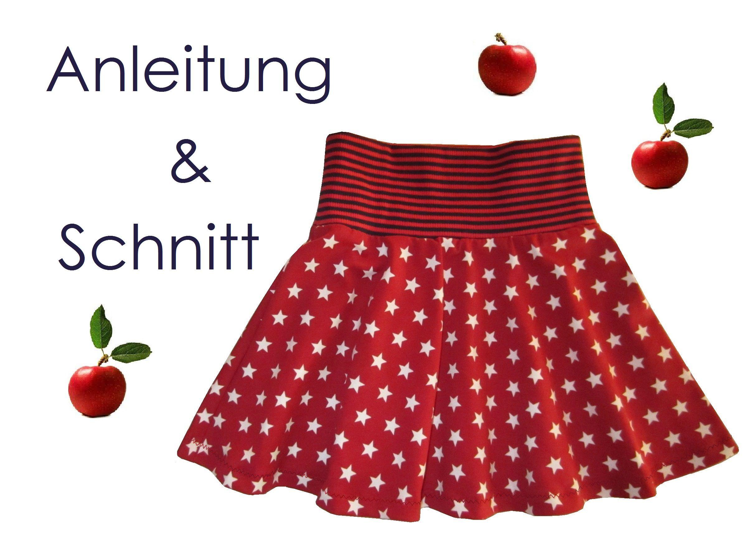 Schnitt + Anleitung Tellerrock für Mädchen Größe 74-140 - Lunicum