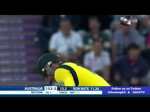 AARON FINCH T20 WORLD RECORD 156 off 63 balls vs ENGLAND 2013 - YouTube