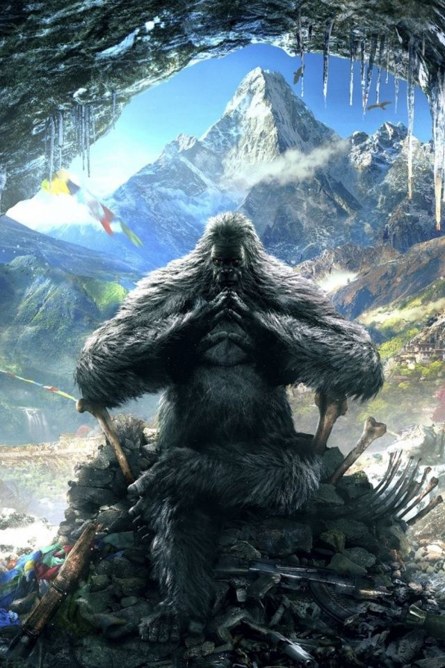 Far Cry 4 Yeti Mobile Wallpaper Mobiles Wall Far Cry 4 Scary