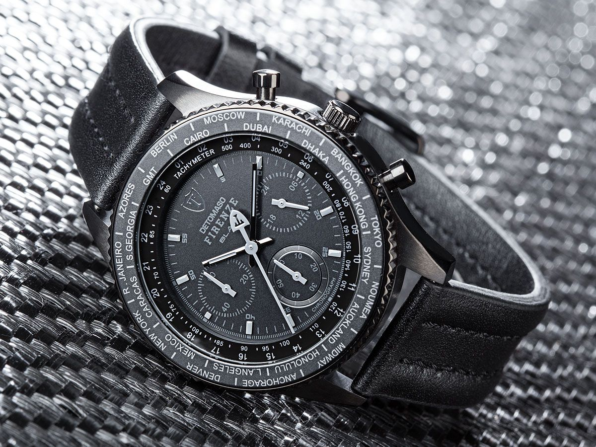 FIRENZE BLACK Chronograph (DT1068-A) - Detomaso Watches