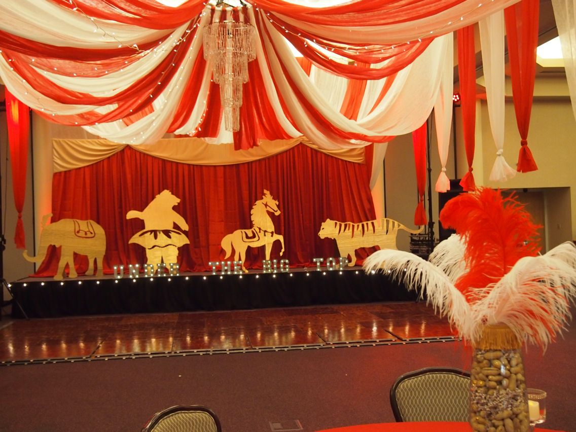 Under The Big Top Prom Vintage Circus Theme Decoration Ideas