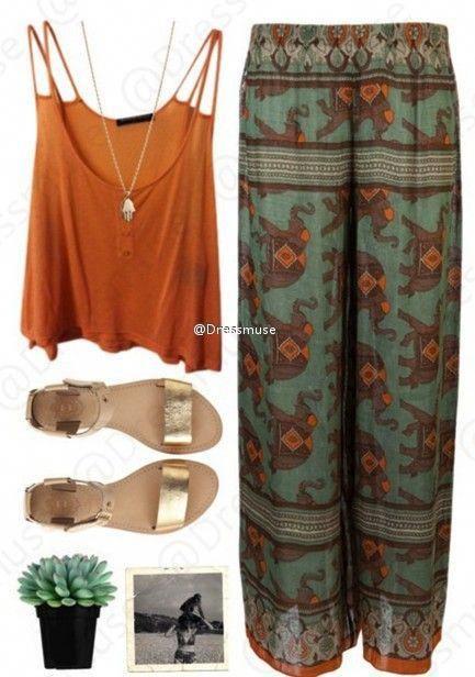 Fashion clothes matching style #BohoFashion 1